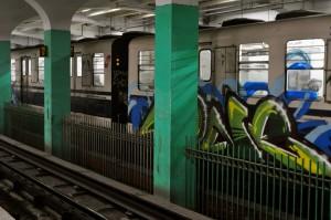 Graffiti on the Kolkata Metro