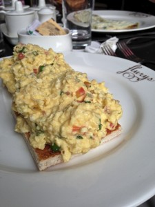 Masala Egg Scramble at Flury's