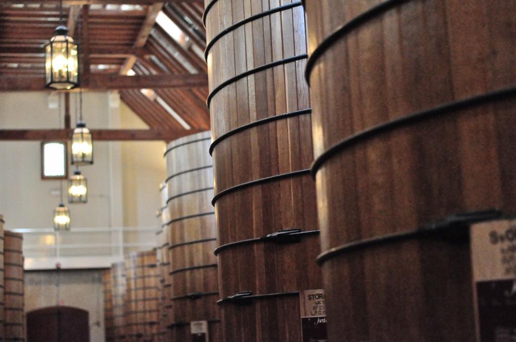 Jordan Winery Barrel Room
