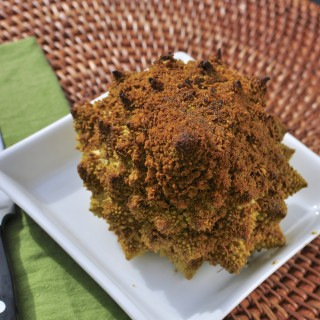 Whole Roasted Romanesco with Indian Spices