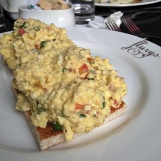 Masala Egg Scramble at Flury's
